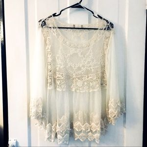 ALTAR'D STATE • Lace Babydoll Boho Top